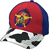 Disney Pixar's Toy Story Woody Sheriff Badge Faux Suede Adjustable Hook and Loop Hat, Blue, One Size