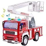 HERSITY Camion Pompieri Giocattolo Grande con Luci e Suoni Macchinine per Bambini 3 4 5 Anni