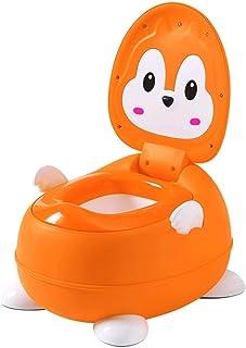ZXCSJ 子供のトイレ - トイレトレーニングシート - キッズボーイズガールズ子供の幼児のためのかわいいバナナ便座トレーナーポータブル折り畳み式のトイレ