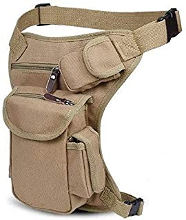 Rubik Outdoor Sport Multifunction Leg Travel Bag Canvas Waist Bag Money Belt Army Fanny Waist Pack Desert Khaki