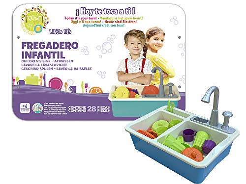 cpa toy group trading s.l.- Kinder-Spüle mit Wasserpumpe, blau (CPATOY Group, S.L. 77877)