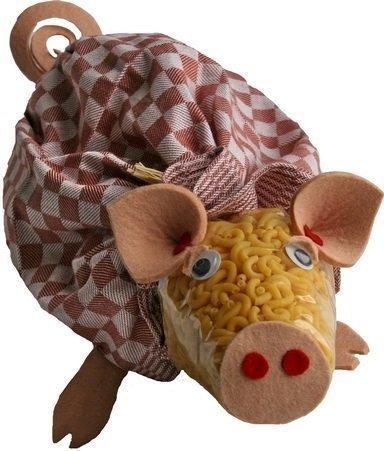 Nudelschwein, Nudeln lustig als Schwein verpackt