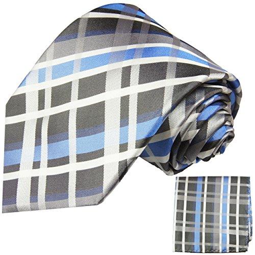 Cravate bleu tartan ensemble de cravate 2 Pièces ( longueur 165cm )