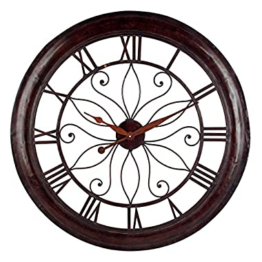 Imax 1003 Oversized Wall Clock - Open Back Round Wall Clock, Analogue Clock for Hotel, Living Room, Dining Room. Modern Wall Clocks