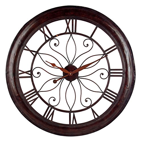 Top Oversized Round Metal Wall Clock