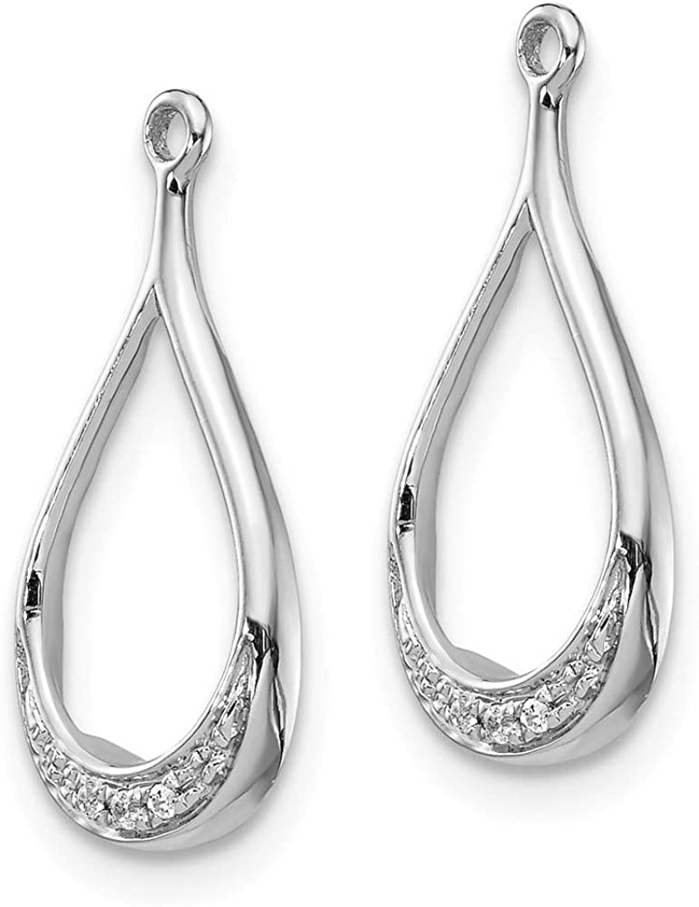 14k White Gold Diamond Ear Jacket Jackets For Studs Ejm Fine Jewelry For Women Gifts For Her