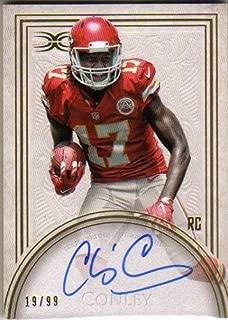2015 Topps Definitive Collection Rookie Autographs #DRACC Chris Conley Autograph RC Serial #19/99 - Kansas City Chiefs