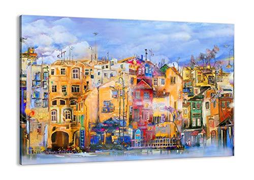 ARTTOR Cuadro sobre Lienzo - Impresión de Imagen - Casco Antiguo casa de Vivienda - 100x70cm - Imagen Impresión - Cuadros Decoracion - Impresión en Lienzo - Cuadros Modernos - AA100x70-3419
