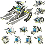 【Build Your Own Robot】The solar kit making powered robot can be transformed into 13 different robots modes which include a multitude of comical and functional movements. The user can easily change from wagging-tail dog > running beetle > walking crab...