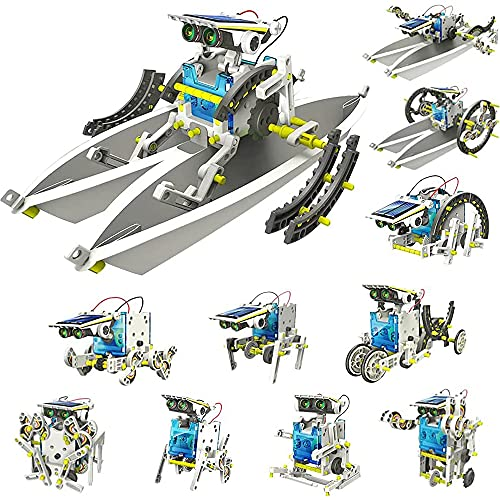 Bluebell Toys for 8-10 Year Old Boys and Girls, 13-in-1 Education Solar Robot Toys Solar Powered by The Sun|DIY Kit Building Science Experiment Kit for Kids, Best Gifts for 8-12 Year Old Boys and Girls (Multi)