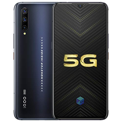 "IQOO Pro 8G+128GB 5G Mobile Phone Snapdragon855 Plus 6.41"" AMOLD 48.0MP NFC 4cameras 44W Super Charge 4500mAh Cellphone Support Google by-(Real Star Technology) (Black 8+128gb)"