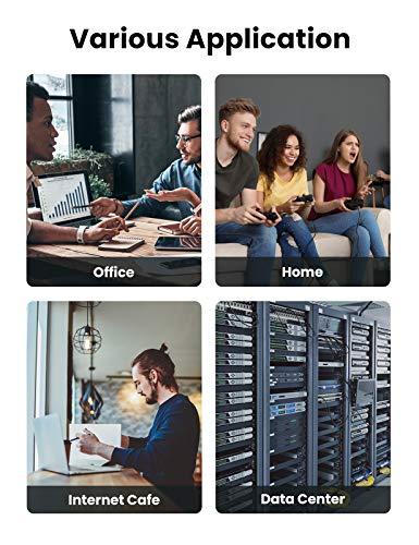 Chromebook LAN Kabel | RJ45 Ethernet Kabel | UGREEN Cat 7 Ethernet Kabel 10Gbit/s 600Mhz LAN Kabel Flaches Netzwerkkabel Cat7 FTP Kabel mit vergoldete RJ45 kompatibel mit Cat.6 Cat.5e Cat.5 für Router, Modem, Switch, PS4/3, Patchpannel usw (1m) - 7