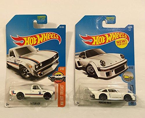 Hot Wheels 2017 HW Hot Trucks Datsun 620 & BONUS: Hot Wheels 2017 Factory Fresh Porsche 934.5 153/365, White