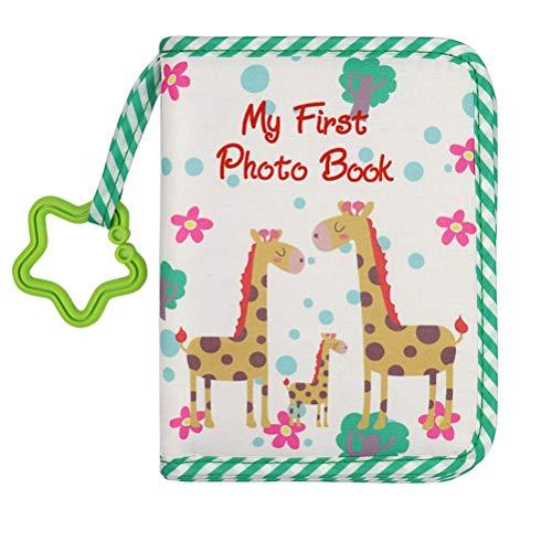 RetroFun Baby-Fotoalbum, weiches Gewebe, Fotoalbum, erstes Fotoalbum, Geschenk für Babys, 10,2 x 15,2 cm, für 17 Fotos