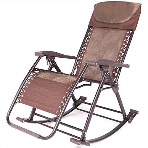 WJJJ Liegestuhl Schaukelstuhl im Freien Garten Hof Aluminiumlegierung tragbaren Designer Stuhl lässig modern