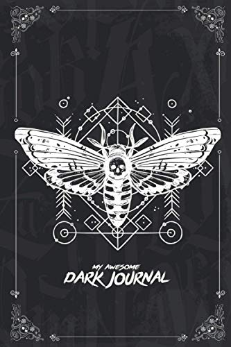 My Awesome Dark Journal: Halloween lined notebook for jottin