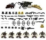 MOC (Mi propia creación). Establecer armas, paredes de ladrillo, perros y equipos tácticos en la Segunda Guerra Mundial para personalizar marcas de grandes construcciones minifigura 95 piezas