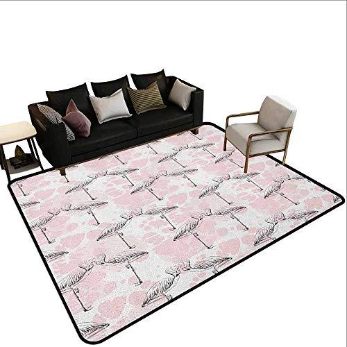 Office Marshal tapijt stoel romantisch,Be My Valentine Quote op penseel beroerte patroon kleur gekleurd achtergrond, koraal roze wit