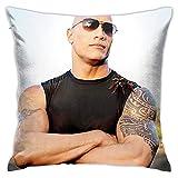 N \ A Dwayne Douglas John-Son - Funda de almohada con cremallera oculta para sofá, oficina, cama de doble cara, funda de cojín para decoración del hogar (doble cara)
