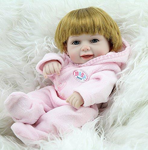 Nicery Reborn Baby Doll Réincarné bébé Poupée Doux Simulation Silicone Vinyle 11 Pouces 28cm Qui Semble Vivant Imperméable Jouet Vif réaliste Âge 3+ Cadeau Fille Robe Manteau