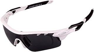 GLJJQMY Outdoor Sports Glasses Riding Glasses Fishing Polarized Sunglasses Set Sunglasses (Color : White)