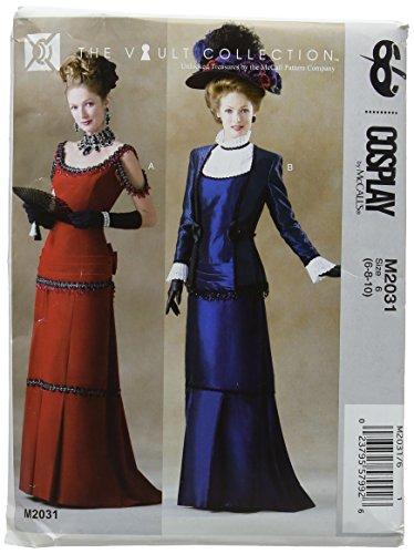 Cosplay van McCall 's Victoria plissé jurk en jas, meerkleurig, maat 6-10