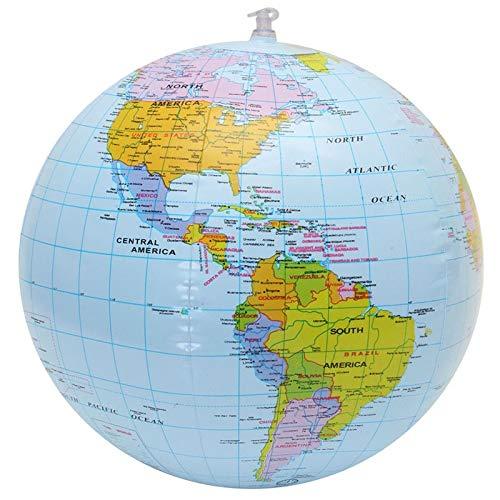 CROSYO 1 stück aufblasbare globus Welt Erde Ozean map Kugel geographie Lernen pädagogische Strand Ball Kinder Spielzeug Hause büro Dekoration Strand Ball