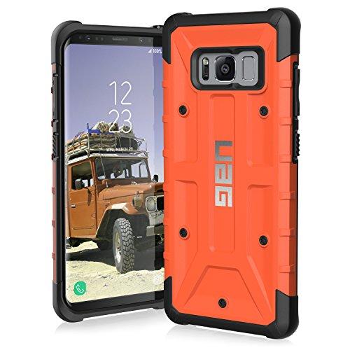 Urban Armor Gear Pathfinder Schutzhülle nach US-Militärstandard für das Samsung Galaxy S8 - orange [Verstärkte Ecken | Sturzfest | Antistatisch | Vergrößerte Tasten] - GLXS8-A-RT