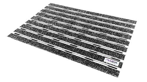 Felpudo técnico Mat.en Ultraplate 12 de aluminio, color antracita para entradas y exteriores, 60 x 40 cm