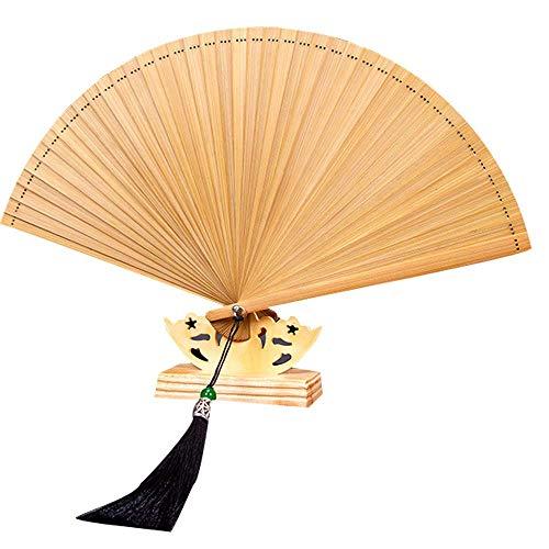 Bambus-Faltfächer, chinesischer Stil, antiker Stil Retro Größe Original-Pigmentfarbe.