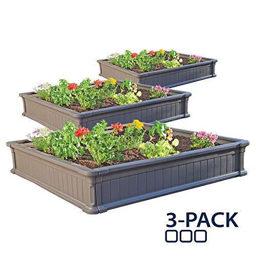 Lifetime 60069 Raised Garden Bed Kit, 4 by 4 Feet,...