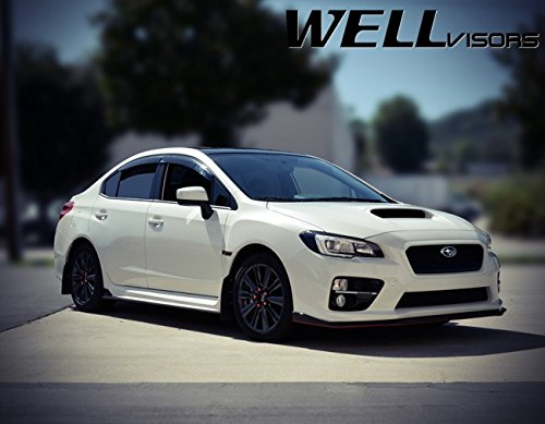 WellVisors Replacement for 2015-2019 Subaru WRX & STI Premium Series Side Rain Guard Window Visors Deflectors 3-847SU011