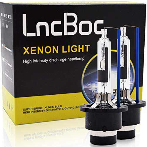 LncBoc D2R HID 35W Xenon Repuesto Faro Bombillas Hielo Azul 8000K 2 unidades