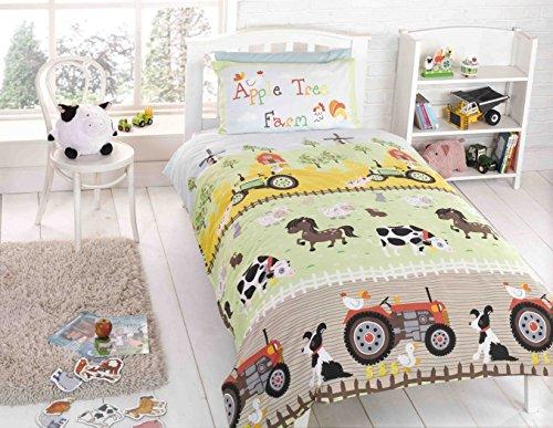 Rapport - Piumino per letto singolo, in poliestere, cotone, multicolore