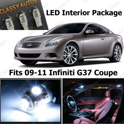 Classy Autos Infiniti G37 White Interior LED Package (7 Pieces)