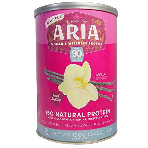 Designer Protein Whey, Aria Women's Wellness Protein, Vanilla