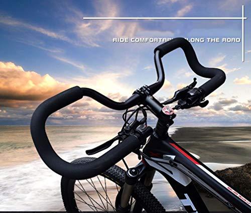 JIKLLSJID Mariposa Mariposa Manillar de la Bicicleta Manillar 31.8, Barra de la Bici de la manija con la Esponja de Espuma Tubo Grips aleación de Aluminio de Bicicletas apretones de Manillar