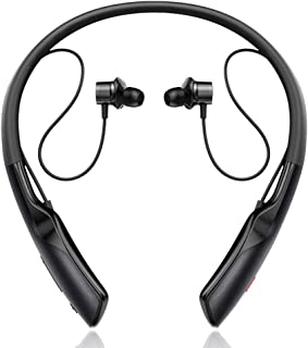 $75 » Lavendervob 2020 new anc active noise reduction bluetooth headset shocking bass and long-lasting battery magnetic absorption 5.0 Binaural Neck Hanging Running Waterproof Headphones (Color : Black)