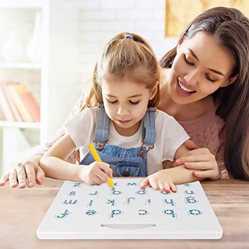 HELEVIA Magnetische Tekening Board, 2 in 1 Alfabet Letter Tracing Board, Educatieve Letters Lezen Schrijven Leren Kleuterschool Gift Koffer + kleine tas