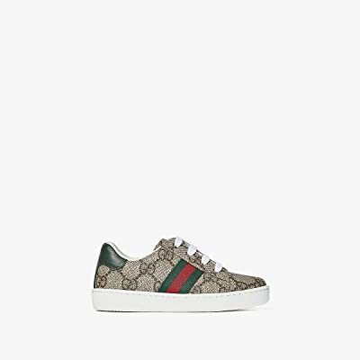 Gucci Kids GG Supreme Low-Top Sneaker (Toddler) (Beige/Multi) Kids Shoes