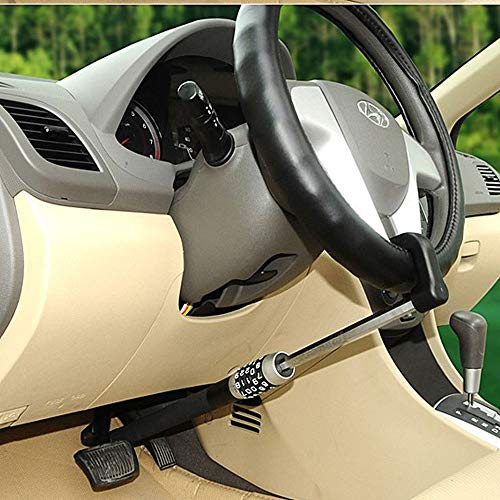 XJ Antifurto per Auto,Antifurto Blocca-Volante Pedali per Auto Blocca,Bloccasterzo Universal Vehicle,Antifurto per Auto con,Bloccasterzo Antifurto Universale, Combination Antifurto Double Hook Blocca