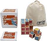 FRITZO Cube Premium Holzspiel Gesellschaftsspiel & Knobelspiel für Erwachsene, Jugendliche & Kinder 3D Zauberwürfel als Familienspiel