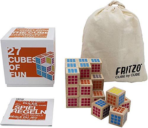 FRITZO CUBE - Das raffinierteste 3D Denk- & Würfelspiel aller Zeiten! Die kreative Herausforderung für Kinder & Erwachsene. Ein super schönes Holzspiel für 1 bis 4 Spieler. Innovation Made in Germany.