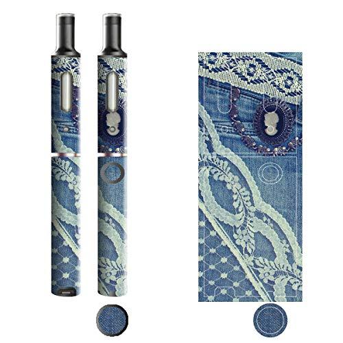 電子たばこ タバコ 煙草 喫煙具 専用スキンシール 対応機種 プルームテックプラスシール Ploom Tech Plus シール Jeans デニム モチーフコレクション 02 レース&カメオ 21-pt08-2132