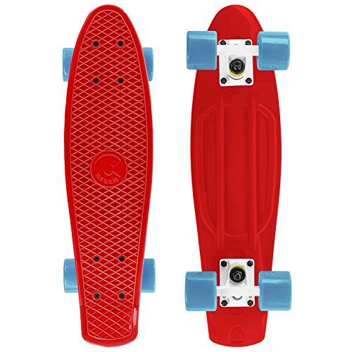Cheap Cal 7 Complete Mini Cruiser | 22 Inch Micro Board | Vintage Skateboard for School and Travel (...