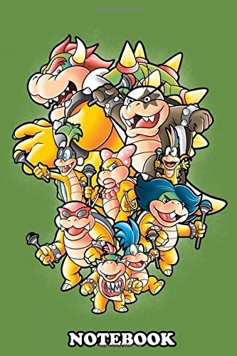 Notebook: Bowser Family , Journal for Writing, College Ruled Size 6' x 9', 110 Pages