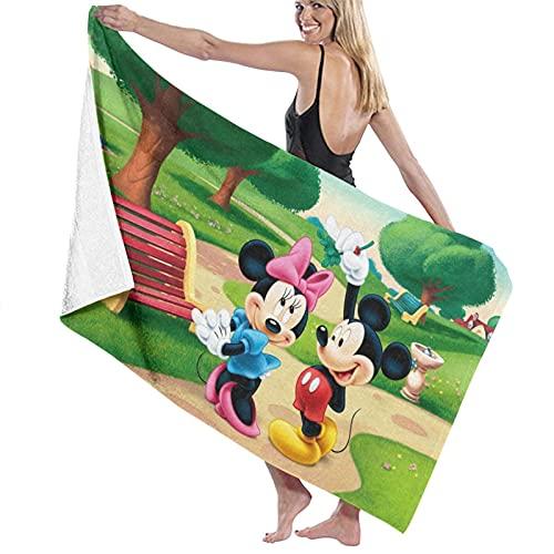 Cooper girl Toalla de baño de Mickey Minnie Mouse de microfibra grande suave para adultos para viajes