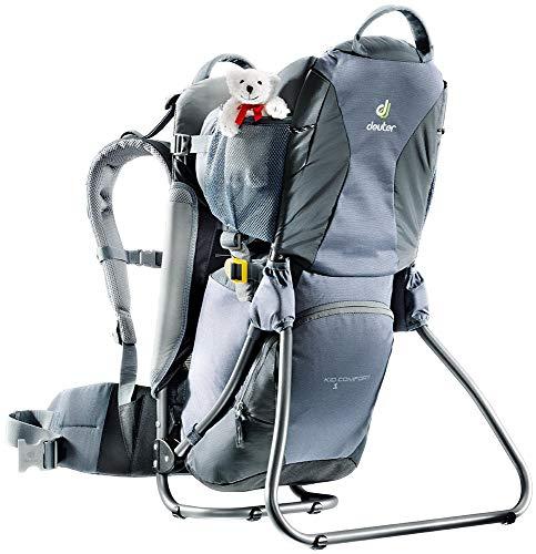 Deuter Kid Comfort 1 - Child Carrier Backpack for Hiking (Titan/Granite)