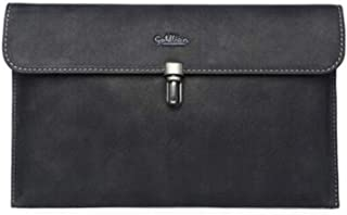 ACSH Men's Handbag, Casual Envelope Bag, Large Capacity Men's Clutch, Fashion Men's Clutch, Black