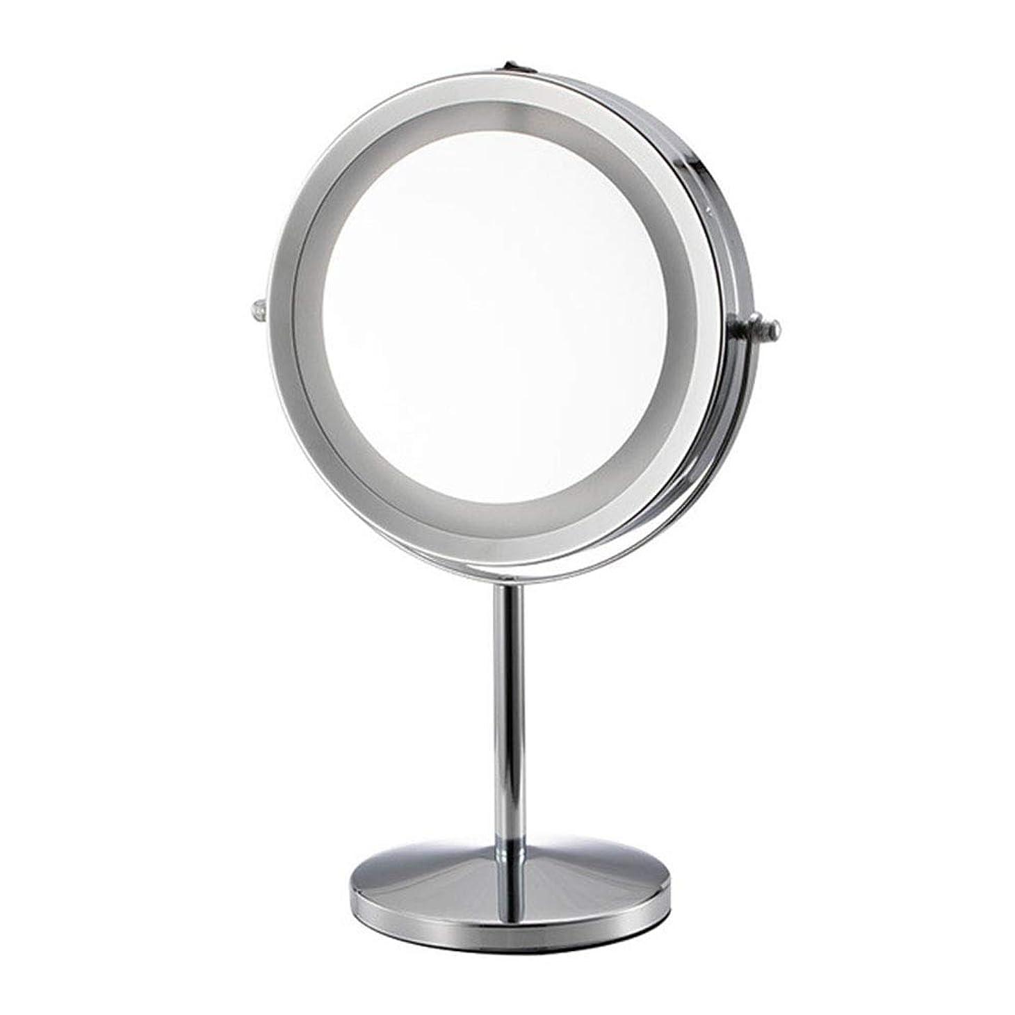 現代ウィスキー宣伝ヨーロッパスタイルの化粧鏡金属両面デスクトップ360°自由に回転美容バスルームミラーズームHDホームホテル化粧鏡ギフト